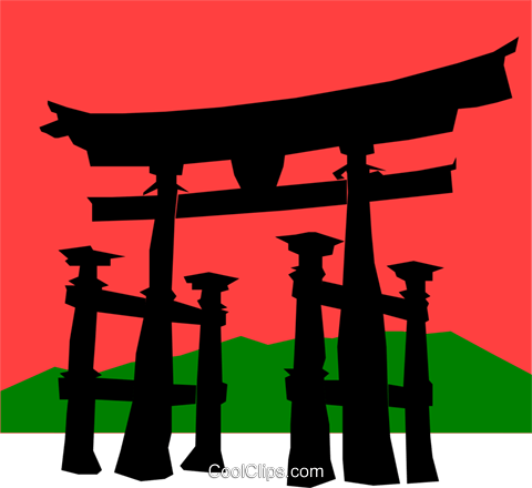 Japanese Royalty Free Vector Clip Art illustration arch0235