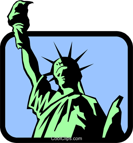Statue of Liberty Royalty Free Vector Clip Art illustration arch0241