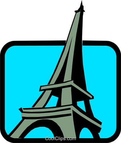Eiffel Towers Royalty Free Vector Clip Art illustration arch0242