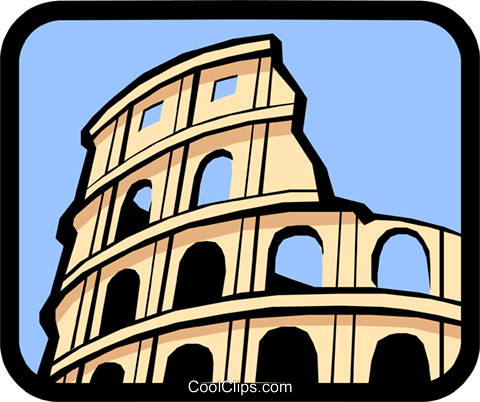 Coliseum Royalty Free Vector Clip Art illustration arch0245