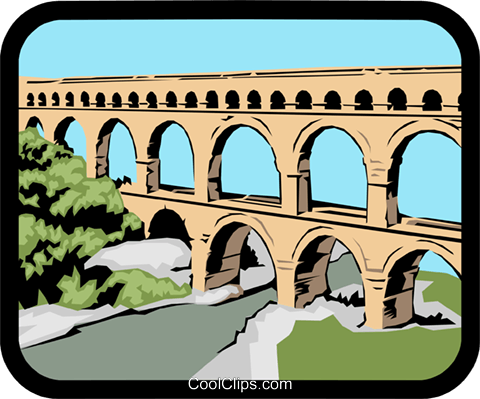 Viaduct Royalty Free Vector Clip Art illustration arch0246
