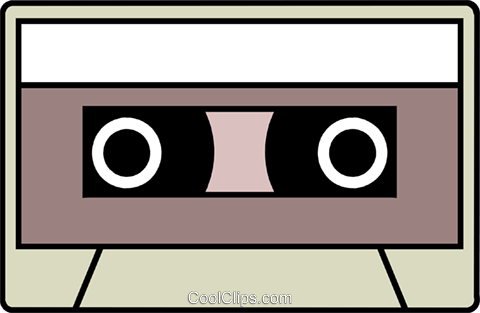 Cassette tape Royalty Free Vector Clip Art illustration busi0383