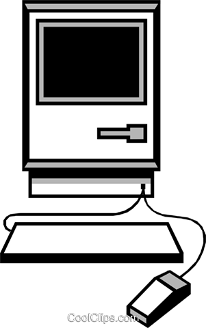 Macintosh computer symbol Royalty Free Vector Clip Art illustration busi0389