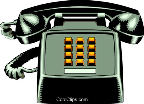 Telephone Royalty Free Vector Clip Art illustration busi0397