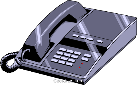 Telephone Royalty Free Vector Clip Art illustration busi0398