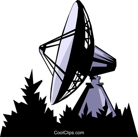 Satellite dish Royalty Free Vector Clip Art illustration busi0400