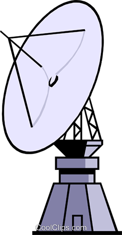 Satellite dish Royalty Free Vector Clip Art illustration busi0402