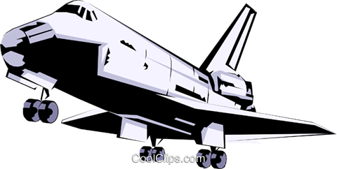 Space shuttle Royalty Free Vector Clip Art illustration busi0404