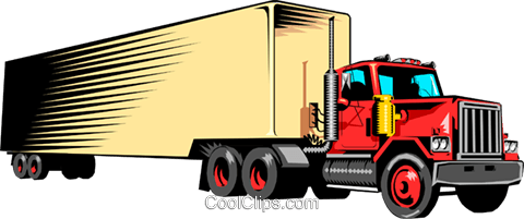 Transport truck Royalty Free Vector Clip Art illustration indu0421