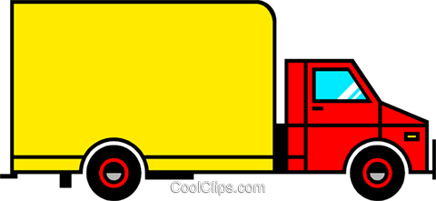 Delivery van Royalty Free Vector Clip Art illustration indu0426