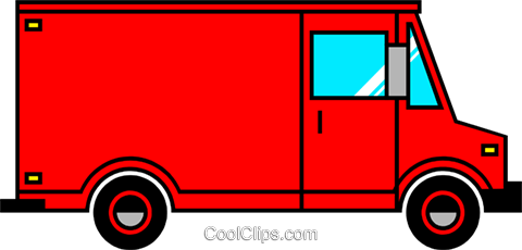 Delivery vans Royalty Free Vector Clip Art illustration indu0427