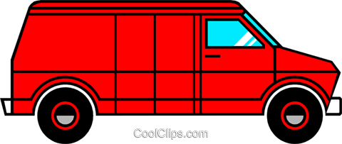 Delivery van Royalty Free Vector Clip Art illustration indu0428