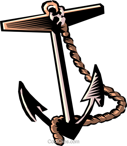 Anchor Royalty Free Vector Clip Art illustration tran0091