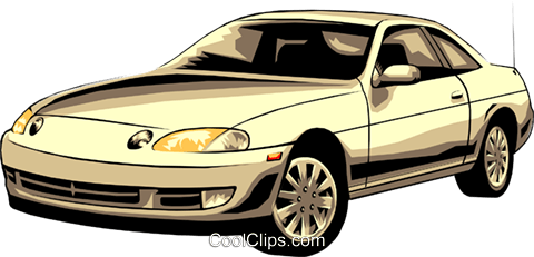 Sports car Royalty Free Vector Clip Art illustration tran0098