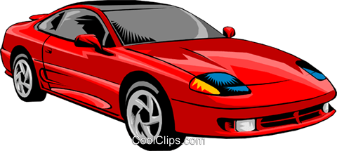 Sports car Royalty Free Vector Clip Art illustration tran0103