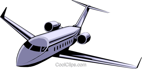 Executive jet Royalty Free Vector Clip Art illustration tran0108