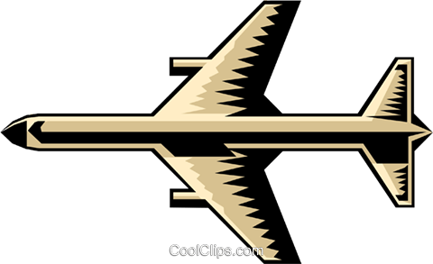 Jet symbol Royalty Free Vector Clip Art illustration tran0136