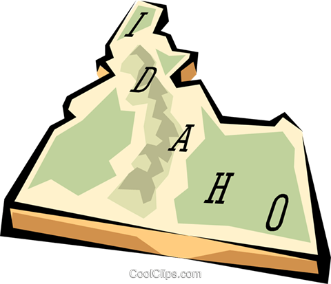 Idaho state map Royalty Free Vector Clip Art illustration worl0559