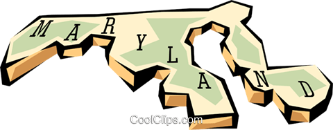 Maryland state map Royalty Free Vector Clip Art illustration worl0567
