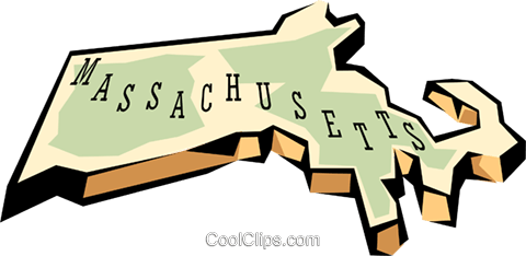 Massachusetts state map Royalty Free Vector Clip Art illustration worl0568