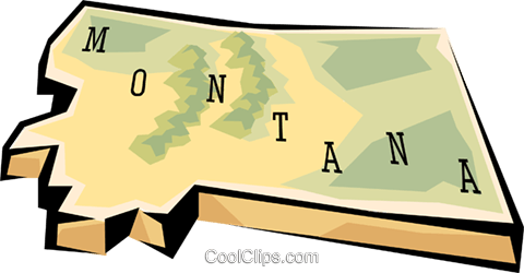Montana state map Royalty Free Vector Clip Art illustration worl0573