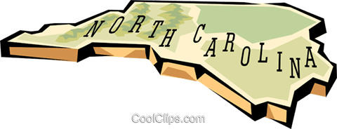 North Carolina state map Royalty Free Vector Clip Art illustration worl0574