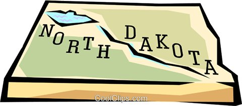 North Dakota state map Royalty Free Vector Clip Art illustration worl0575