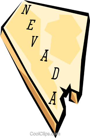 Nevada state map Royalty Free Vector Clip Art illustration worl0577
