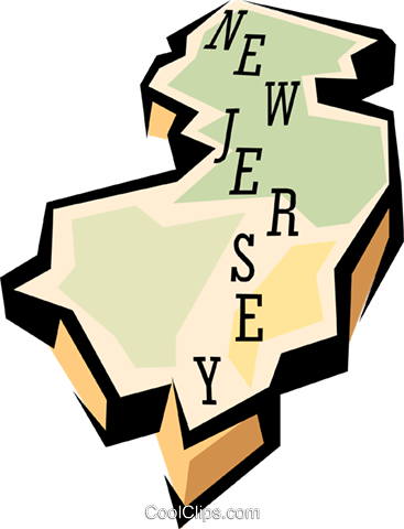 New Jersey state map Royalty Free Vector Clip Art illustration worl0579