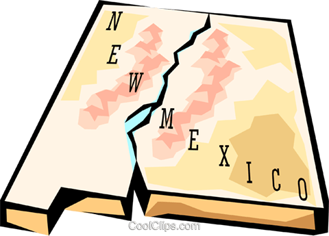 New Mexico state map Royalty Free Vector Clip Art illustration worl0580