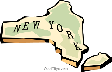 New York state map Royalty Free Vector Clip Art illustration worl0581