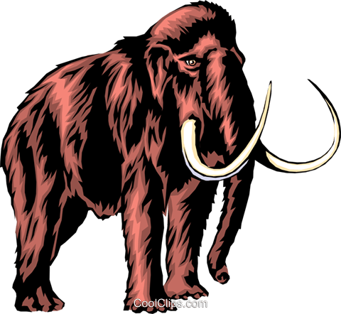 Mammoth Royalty Free Vector Clip Art illustration anim0293