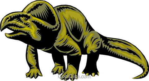 Dinosaur Royalty Free Vector Clip Art illustration anim0295
