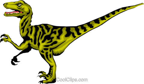 Raptor Royalty Free Vector Clip Art illustration anim0299