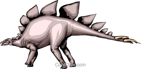 Stegosaurs Royalty Free Vector Clip Art illustration anim0301