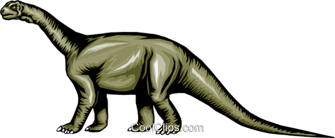 Brontosaurus Royalty Free Vector Clip Art illustration anim0302