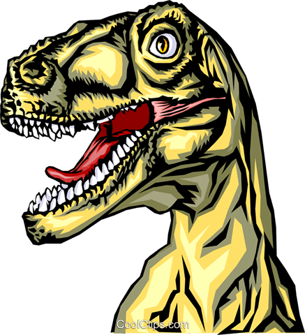 Tyrannosaurus rex Royalty Free Vector Clip Art illustration anim0307