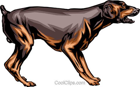 Dog Royalty Free Vector Clip Art illustration anim0311