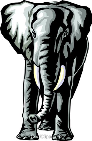 Elephant Royalty Free Vector Clip Art illustration anim0322