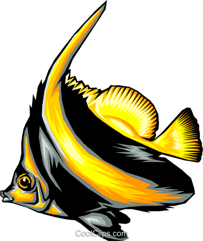 Tropical fish Royalty Free Vector Clip Art illustration anim0327