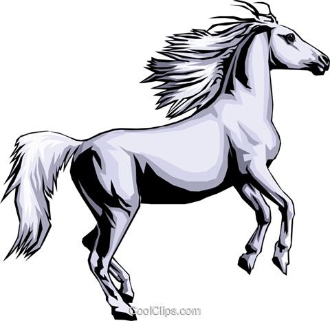 Horse Royalty Free Vector Clip Art illustration anim0342