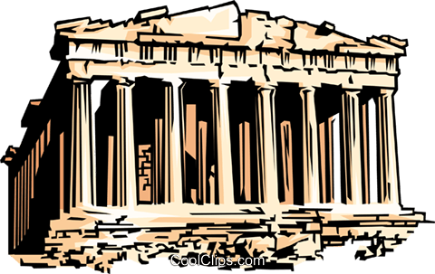 Parthenon Royalty Free Vector Clip Art illustration arch0064