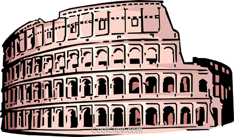 Coliseum in Rome Royalty Free Vector Clip Art illustration arch0067