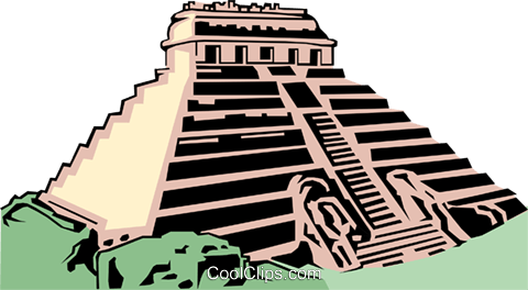 Mayan temple Royalty Free Vector Clip Art illustration arch0073