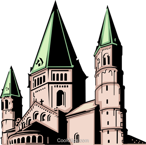 Church Royalty Free Vector Clip Art illustration arch0074