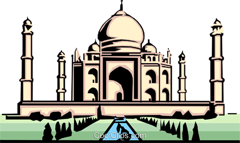 Taj Mahal Royalty Free Vector Clip Art illustration arch0075
