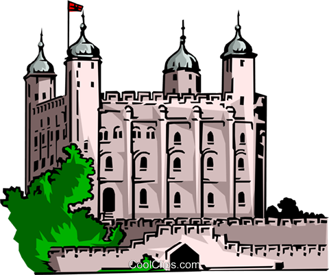 Tower of London Royalty Free Vector Clip Art illustration arch0078