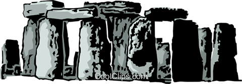 Stonehenge Royalty Free Vector Clip Art illustration arch0080