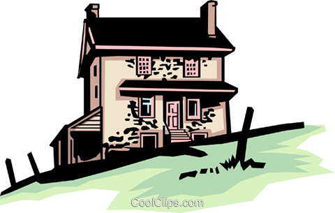 Country house Royalty Free Vector Clip Art illustration arch0084