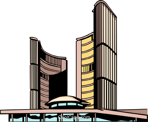 Toronto City Hall Royalty Free Vector Clip Art illustration arch0085